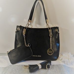 Authentic Michael Kors Leather Tote w/ Accessories
